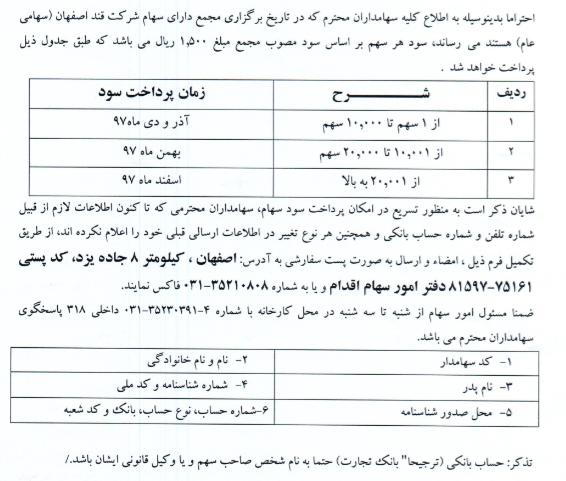 قند اصفهان