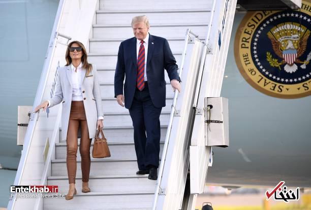 تصاویر ورود ترامپ و ملانیا به هلسینکی برای دیدار با پوتین + تصاویر
