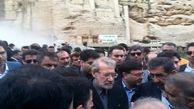 لاریجانی  به مناطق سیلزده خوزستان سفر کرد
