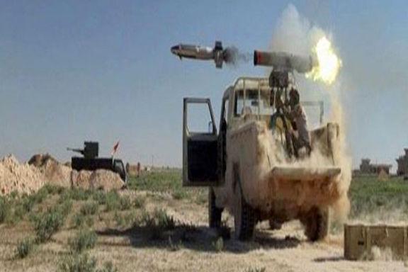 حشد شعبی حمله موشکی به مواضع داعش کرد