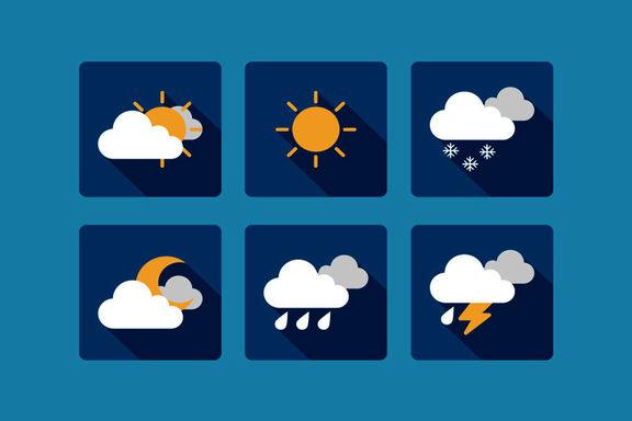 وضعیت آب و هوای ایران در روز  سیزده به در!