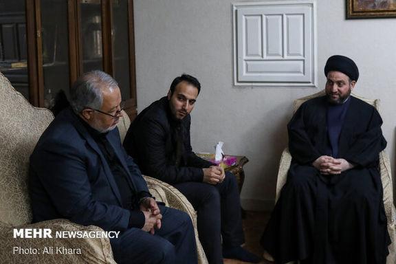 عمار حکیم به منزل سپهبد شهید سردار قاسم سلیمانی رفت+ عکس
