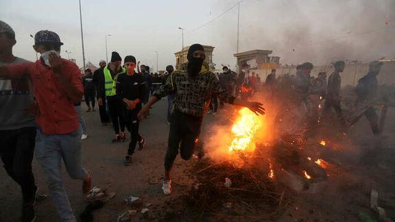 آغاز دوباره تظاهرات در بصره عراق / معترضان با نیروهای امنیتی درگیر شدند