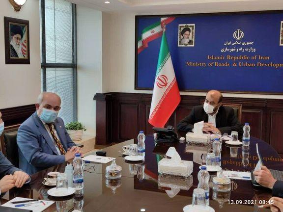 گفتوگوی سفیر روسیه در ایران با وزیر راه و شهرسازی