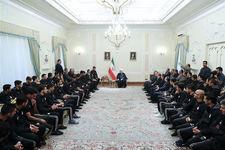 اعضای تیم ملی با رئیس جمهور دیدار کردند