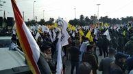 شعارهای مردم عراق در تشکر از فداکاری شهید سلیمانی و المهندس