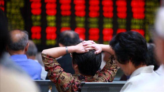 افت شاخص های بورس آسیا در نتیجه افزایش نرخ بهره در آمریکا