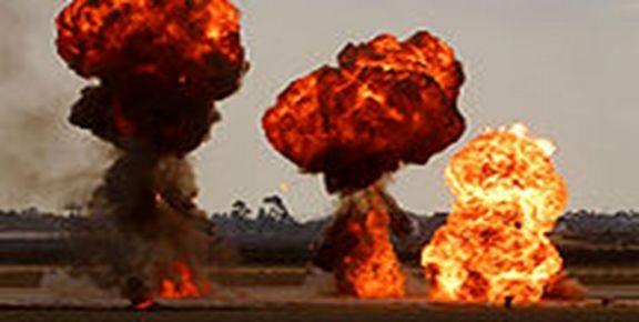 برخورد پلیس گشت ایرانشهر با یک شی انفجاری