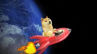 دوجکوین موشک به فضا پرتاب میکند