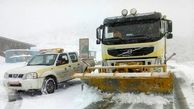 ۱۲ جاده به علت ریزش و ترافیک برف  مسدود شد
