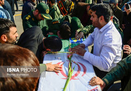 مراسم تشییع پیکر شهدای حادثه تروریستی سیستان و بلوچستان + ویدئو