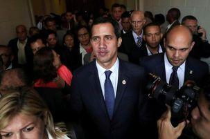 گوایدو به کلمبیا سفر کرد/دیدار وزیر خارجه آمریکا و گوایدو