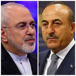 ظریف و وزیر خارجه ترکیه درباره اوضاع شمال سوریه تلفنی گفت و گو  کردند