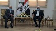 محمد جواد ظریف با رئیس سازمان حشدالشعبی عراق دیدار کرد