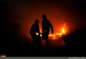 آتش سوزی در یک پاساژ تجاری در میدان امام حسین (ع)