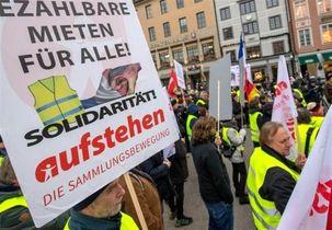 جلیقه زردهای  آلمان هم به خیابان ها آمدند