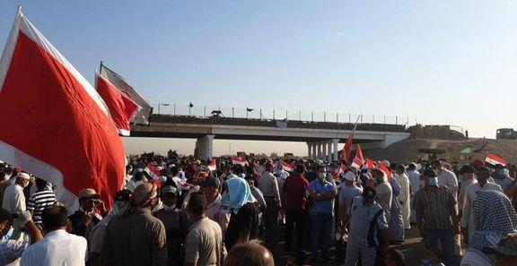 تظاهرات مردم بغداد علیه حضور نظامیان آمریکایی در کشور