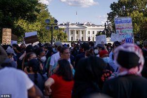 اعتراضات گسترده آمریکا باعث ترس ترامپ شد