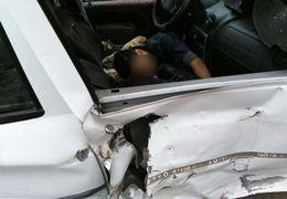 تصادف مرگبار یک تریلی با یک مینی بوس در گنبد کاووس  + فیلم