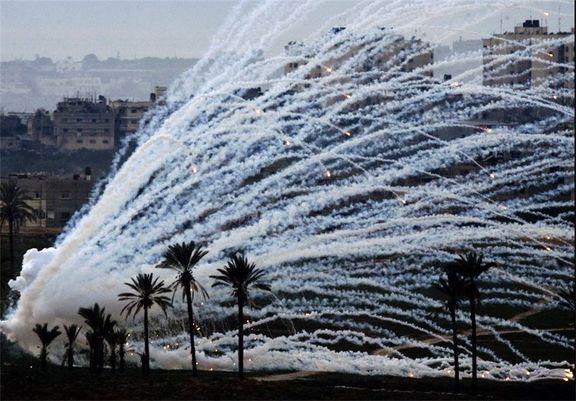 بمب های فسفری آمریکا شرق سوریه را نشانه رفت