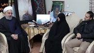 سوال دخترِ سردارِ شهید سپهبد قاسم سلیمانی از رئیس جمهور + فیلم