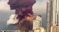 ویدئوی باکیفیت و هولناک از انفجار بیروت که بیشتر شبیه فیلم های هالیوودی است