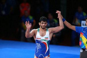 یزدانی نخستین مدال طلای کاروان ورزشی ایران را بر گردن آویخت