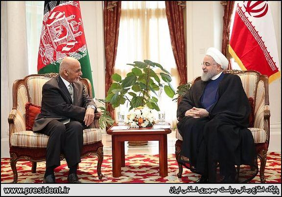 روسای جمهور ایران و افغانستان با هم دیدار کردند