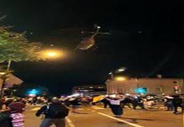 پرواز بالگردهای نظامی با ارتفاع پایین در واشنگتن دیسی برای ارعاب معترضان