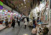 فیلم خلوتی بازار تهران در 5 فروردین
