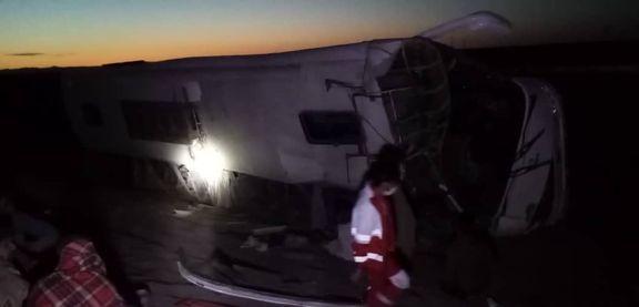 تصادف خونین اتوبوس در محور زاهدان -کرمان