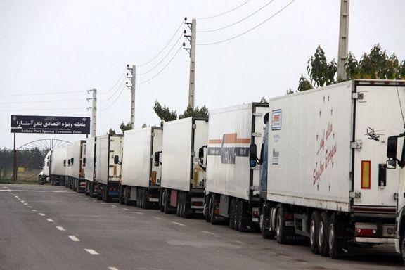 افزایش ۱۵۷ درصدی تردد کامیونهای ترانزیتی از خاک ایران