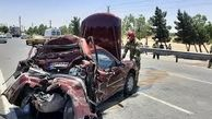 ۲ کشته در تصادف پژو - خاور در جاده رامهرمز به هفتکل خوزستان