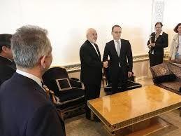 دیدار هایکو ماس، وزیر خارجه آلمان با ظریف + فیلم