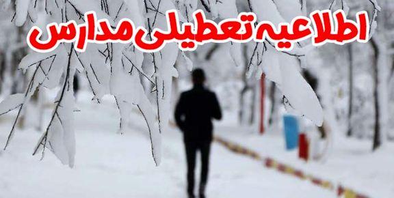 مدارس فیروزکوه چهارشنبه 23 بهمن تعطیل است