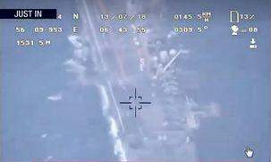 سپاه اولین تصاویر  رصد ناو آمریکایی را برای اثبات دروغ ترامپ  رسانه ای کرد