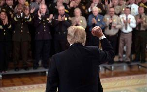 دونالد ترامپ از سرکوب معترضان دفاع کرد