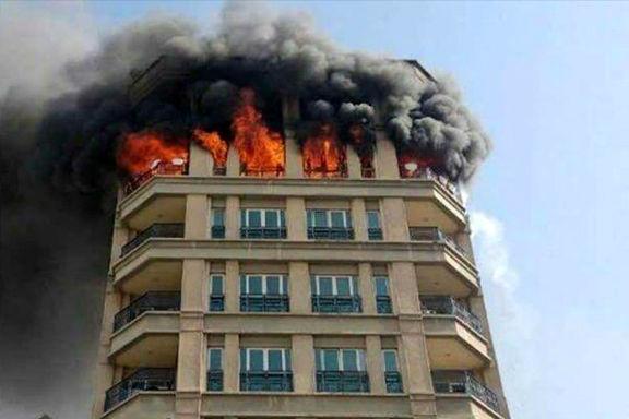 علت آتش سوزی ساختمان خیابان جردن