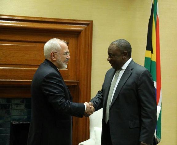 دیدار ظریف با رئیسجمهور آفریقا جنوبی+ عکس