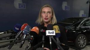 موگرینی: از هر برنامه ای که باعث خوابیدن تنش ها در خاورمیانه شود استقبال می کنیم