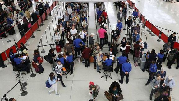 رفت و آمد مسافران درفرودگاه امریکا بررسی می شود