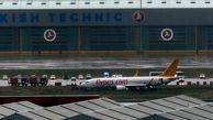 تصاویری از سقوط هواپیمای مسافربری ترکیه+ فیلم
