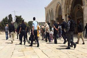 فلسطینی ها برای نخستین بار از سال ۲۰۰۳ به مصلای بابالرحمه وارد شدند