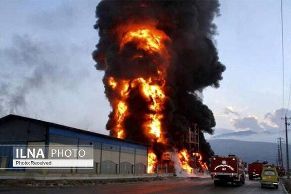 جزئیات آتش سوزی در شهرک صنعتی حیدریه قزوین+ فیلم