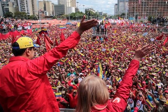 آغاز تجمع گسترده حامیان مادورو در کاراکاس