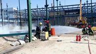 آتش سوزی در کارگاه ساختمانی در مشهد/ دو بشکه 220 لیتری گازوئیل طعمه حریق شد
