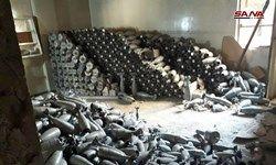 یک کارگاه ساخت خمپاره متعلق به تروریست ها در دوما کشف شد+ عکس