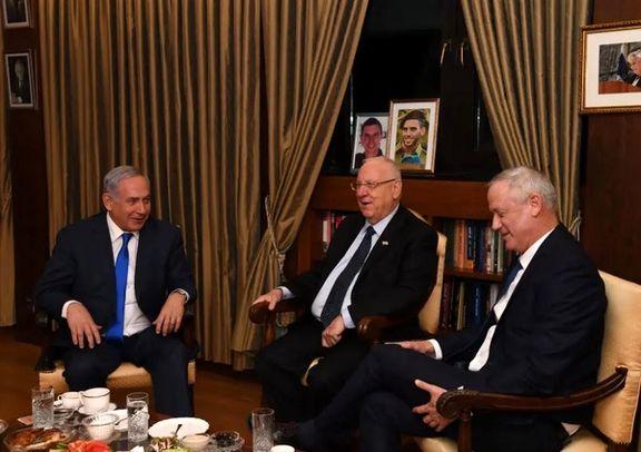 شام مشترک نتانیاهو با گانتس و رئیس رژیم صهیونیستی