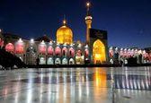 بارش باران در حرم امام رضا(ع) و نوای نقاره در شب عید مبعث + فیلم
