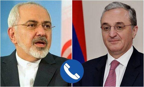 ارمنستان درباره مقابله با کرونا با وزیرخارجه ایران گفتگو کرد